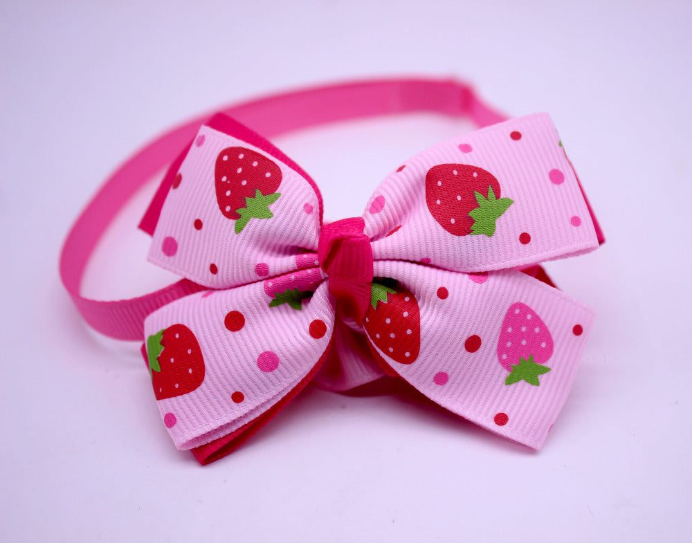 1pcs Dog Bow Ties Strawberry Style Girl bowties Pet Necktie Bowtie Pet Puppy Collar  Accessories Dog Grooming Supplies for dogs