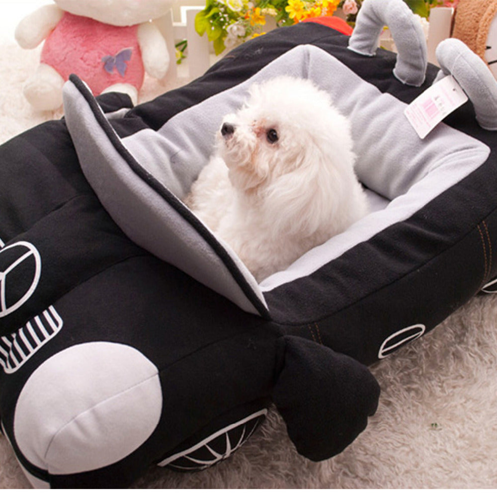 2 Colors Dog Car Bed Pet Bed Sofa for Small Dogs&Cat Fleece Dog Beds Detachable Cotton Padded Dog House Waterproof Puppy Kennel