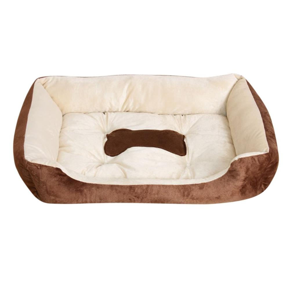 2 Colors Pets Dog Bed Warming Plush Dog House High Elastic PP Cotton Pet Nest Dog For Cat Puppy Pet Supplies Autumn Winter
