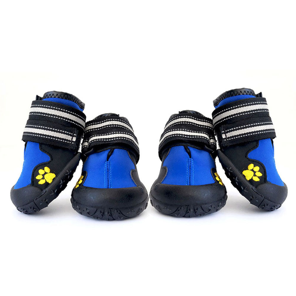 2 Pair Pet Outdoor Rain Boots Large Dog Shoes Non Slip Running Sneakers Waterpoof Boot Pets Accessories E2S