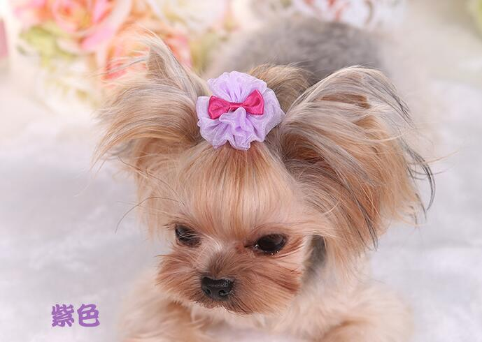 2 piece/lot 4-5CM Dog Accessories Puppy bobby pin Pet ornament Dogs decorations dog hairpin Hair Accessories Dog Supplies PY774