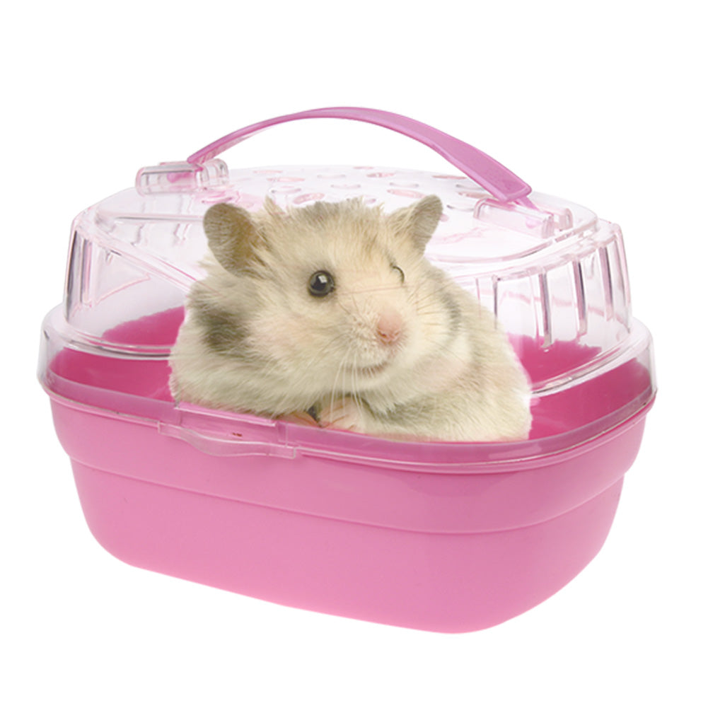 20*16*15cm Cute Portable Hamster Cage Case Small Animals Home Carry Cage Pet Hamster House Pet Supplies Hamster Accessories
