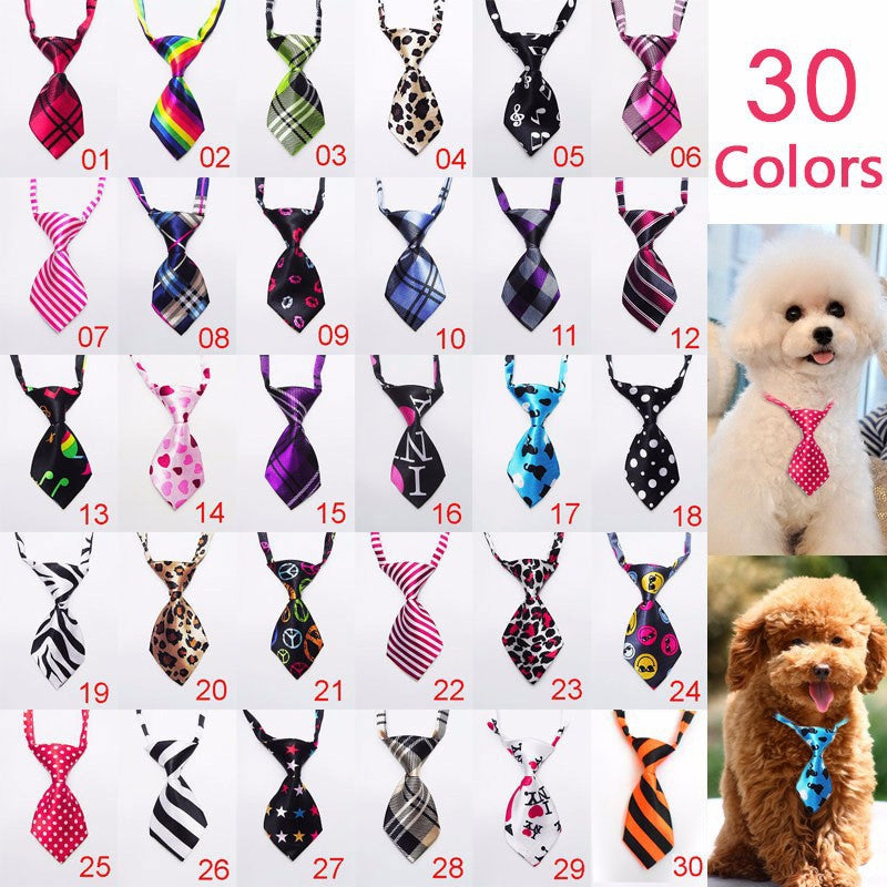 200pc/lot 2017 Factory Sale New Colorful Handmade Adjustable Dog Pet Bow Ties Cat Neckties Dog Grooming Supplies for party P01