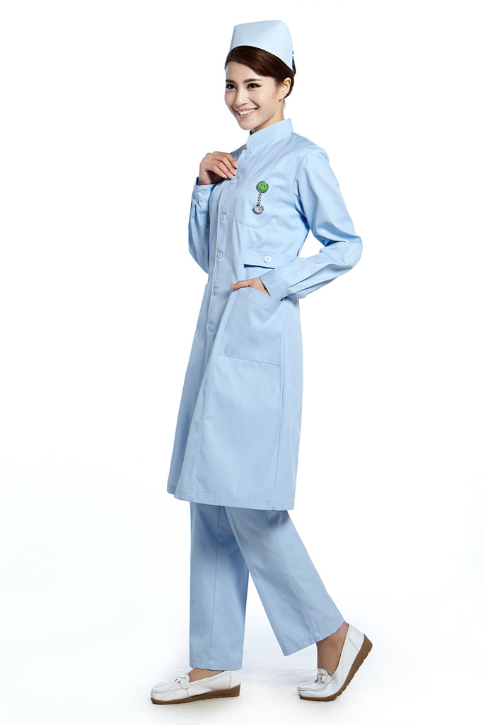 2015 Free Shipping nurse uniform womens nursing scrubs nursing gown hot selling