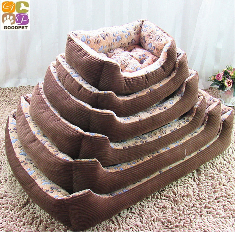 2015 New The Footprints Dog Kennel Autumn Winter Warm Dog Pet Cushion Bed Pet Supplies GP15-1027019