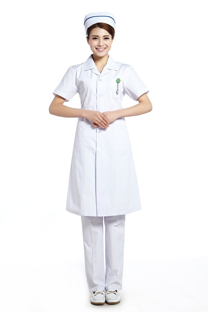 2015 OEM hospital workwear nurse uniform long coat nurse uniform hospital plus size factory direct sale for summer