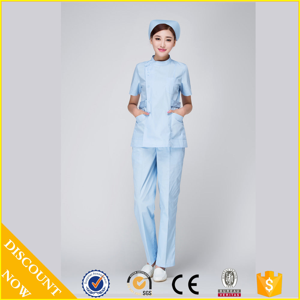 2015 OEM short sleeve nurse uniform medical clothing women hot selling