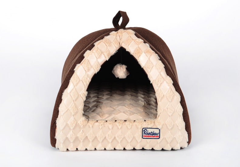 2015 Warm pet dog house Teddy bear than small dogs bed Autumn and winter dog kennel cat mat