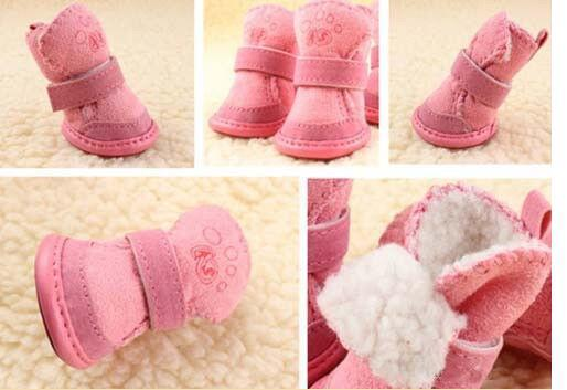 2015 dog shoes winter pet dog boots cute puppy shoes fashion Cotton-padded shoes Classic Warm Dog Shoes Anti-Slip for small dog
