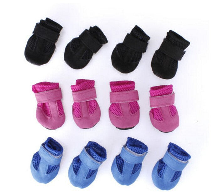 2016 3 colors Cute Pet Dog cotton Shoes Winter Fall 4pcs/set Dog's Boots Anti Slip or Pet Dog waterproof ChiHuaHua Girl