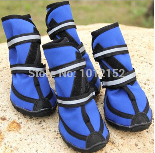 2016 Hot Sale Four season waterproof XXL pet shoes Oxford Bottom Pet fashion rain boots /large dog booties /large dog shoes