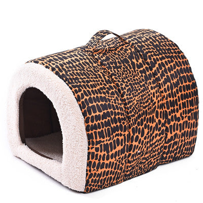 2016 New Product for Pet Bed Leopard Dog House Cat Cushion Pet Home High quality Soft Bed for Cat Print Puppy Mats