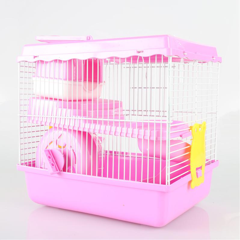 2016 New Styles One Set 27cm * 26cm * 20.5cm Upscale Boutique Villa Hamster Cage Hamster Brown Blue Pink Optional