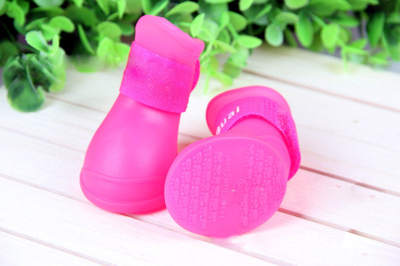 2017 Brand new Lovely Portable Pet Dog Waterproof Boots Rain Shoes non-slip