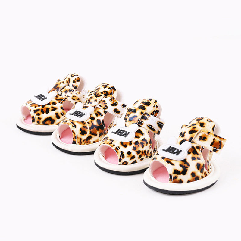2017 New Arrival 4Pcs/Set Pet Dog Summer Shoes for Small Dogs Boots Outdoor Walking Sandals Pet Supplies