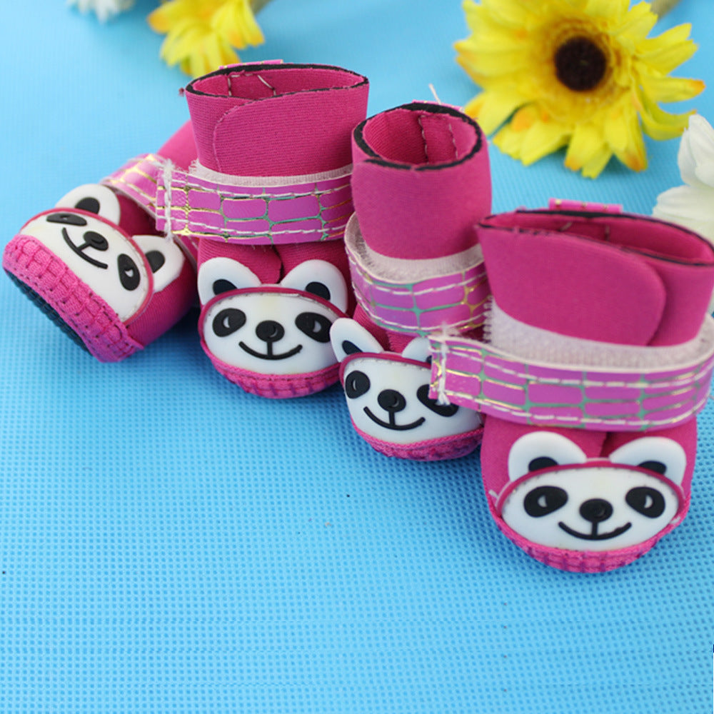 2017 Pet Dog Autumn Winter 100%Cotton Rubber Boots Shoes Pet Products