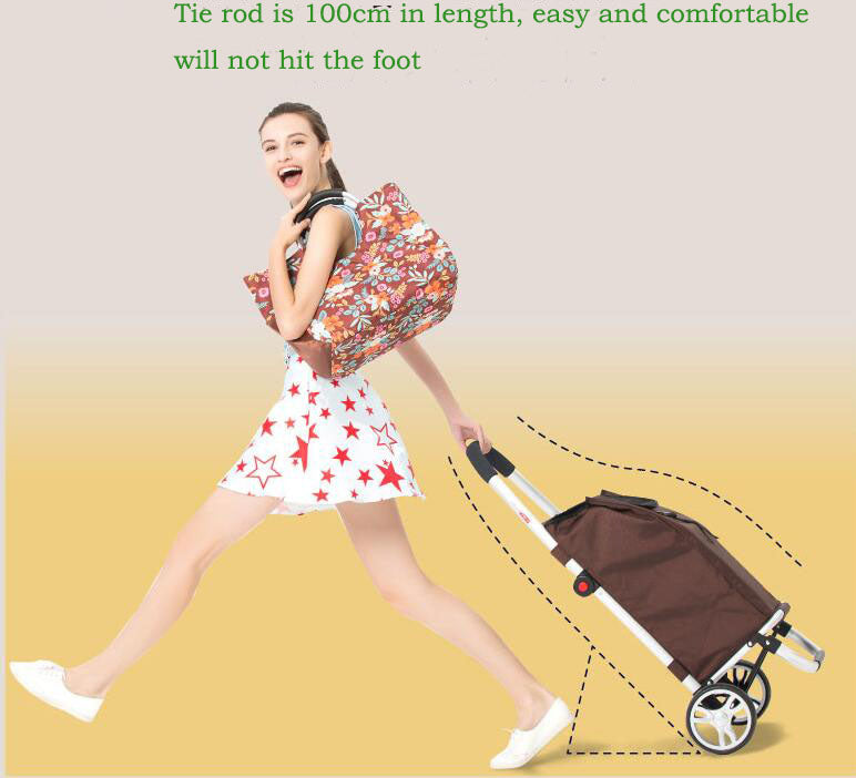 2017  Portable strong bearing shopping cart Foldable  Aluminum alloy material shopping basket Easy  climb stairs shop cart