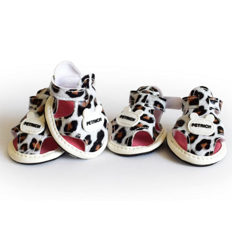 2017 new arrival pet dog shoes summer leopard dog shoes for chihuahua yorkshire skidproof dog shoes pet products 5 Size