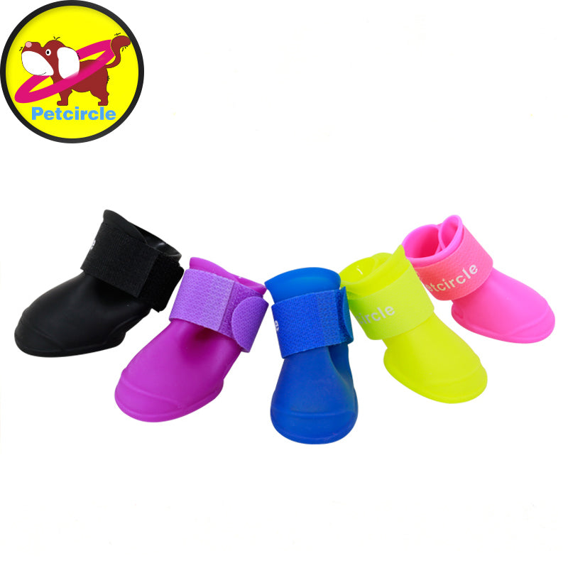 2017 petcircle Cute Springand Summer Dog Shoes New Fashion Soft Environmental Shoes For Dog Size S-L Pet Rain Shoes Freeshipping
