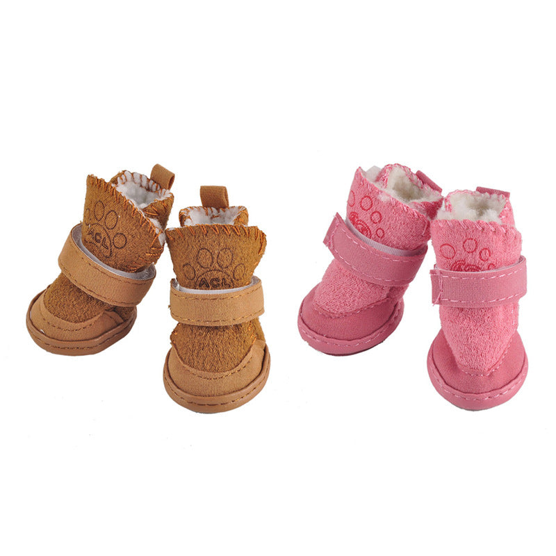 2017 top sale Pet Cat Dog Shoes Winter Waterproof Anti Slip Thick Soft Bottom Snow Boots For Chihuahua Small Big Large Pets Dogs