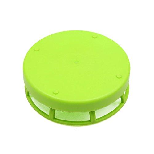 uxcell Green Plastic Water Plate Dish Terrarium Reptile Tank Feeder for Reptiles and Amphibians