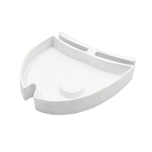 uxcell White Plastic Pets Feeder Terrarium Aquarium Water Food Dish Plate for Reptiles Amphibians