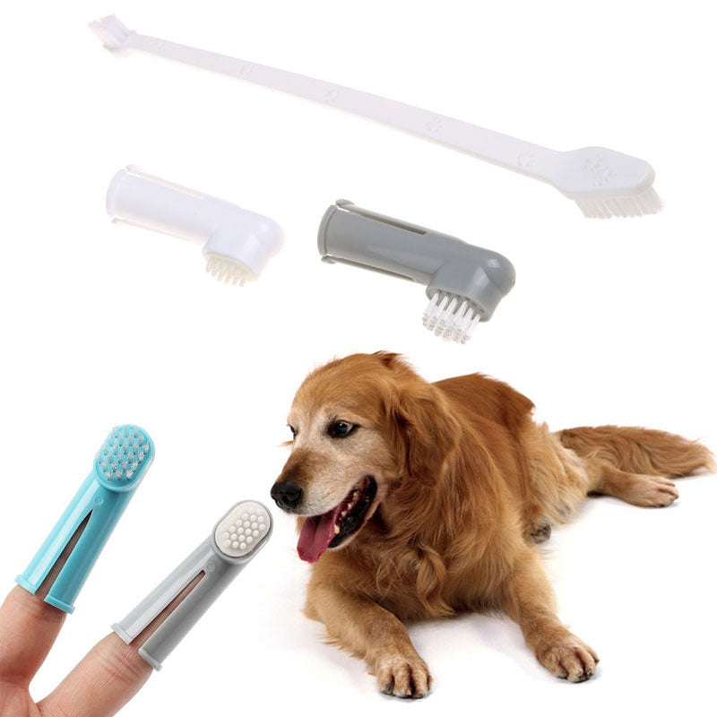 3pcs/set Pet Shop Dog Toothbrush Super Soft Finger Pet Toothbrush Teddy Cat Brush Teeth Care Cleaning Tools Dog Accessories