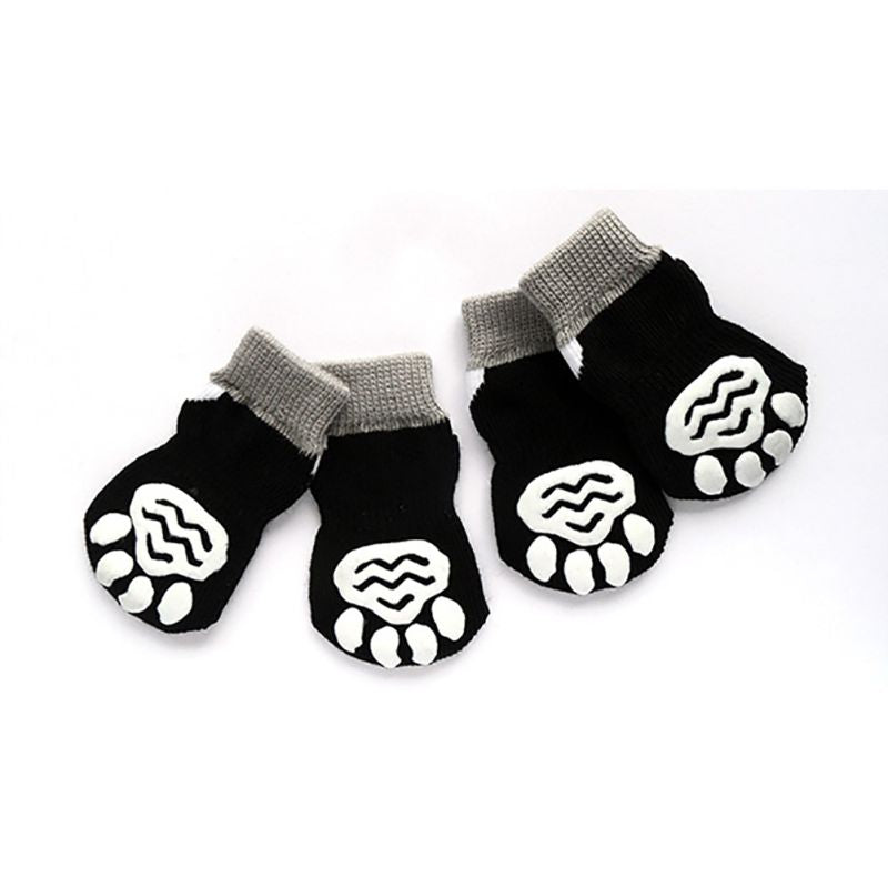 4 PCS/set Small Pet Dog Doggy Shoes Lovely Soft Warm Knitted Socks Clothes Apparels For S-XL Pets Supplies