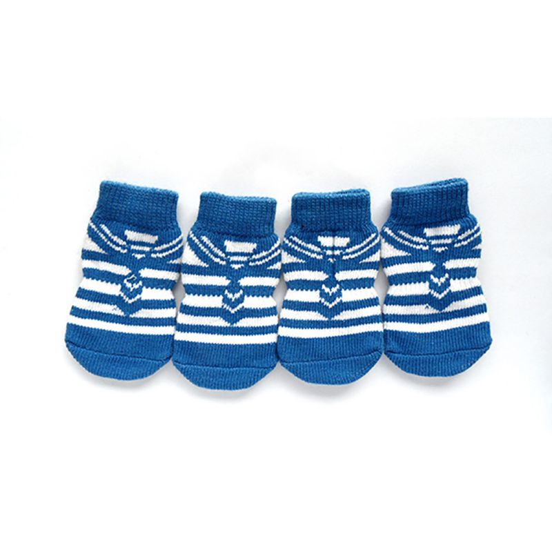 4 PCS/set Small Pet Dog Doggy Shoes Lovely Soft Warm Knitted Socks Clothes Apparels For S-XL