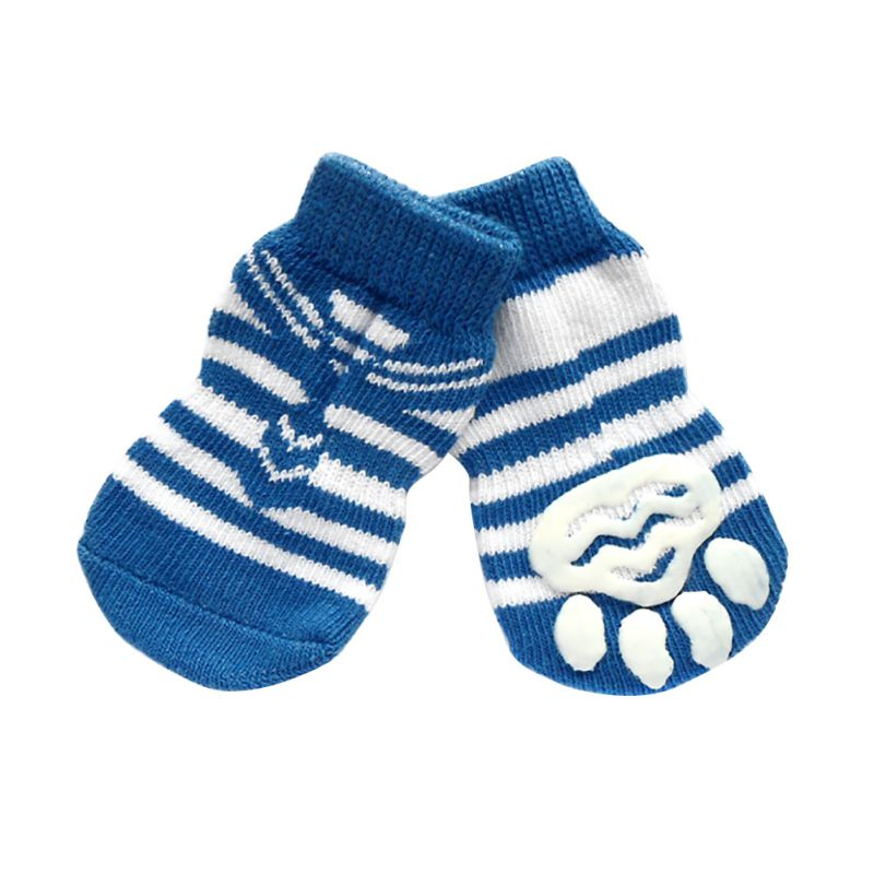 4 PCS/set Small Pet Dog Doggy Shoes Lovely Soft Warm Knitted Socks Clothes Apparels