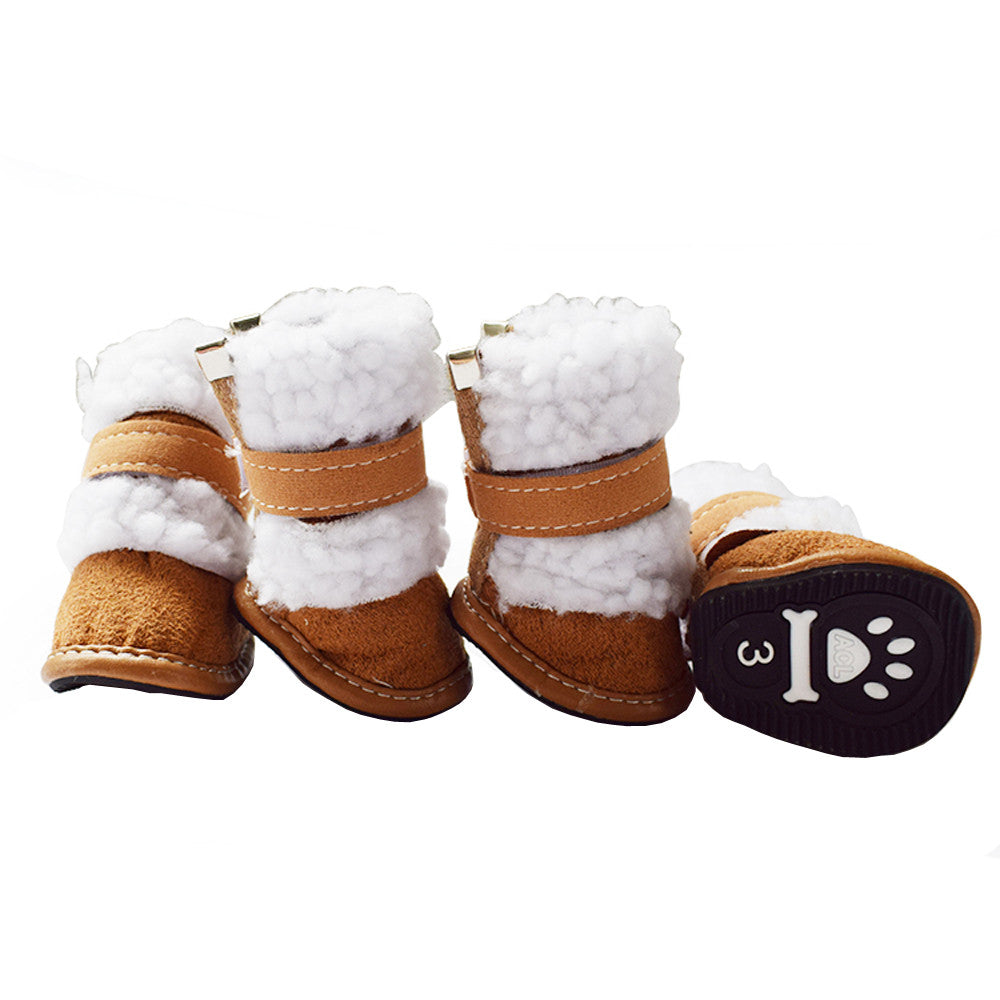 4 Pcs Dress up Dog Pet Cute Puppy Shoes For Small Dog Winter Snow Boots Size S M L XL XXL Pet Accessories Supplies Product F1023