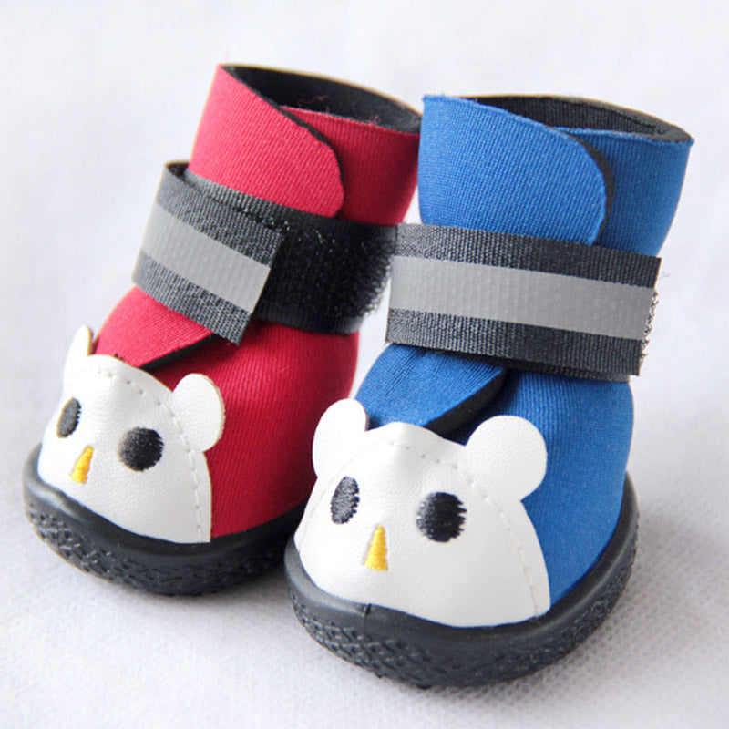 4 Pcs Rain Snow Boots Winter Pet Dog Shoes Waterpoof Anti Slip Warm Puppy Small Cats Dogs Socks Booties Pets Supplies Ho