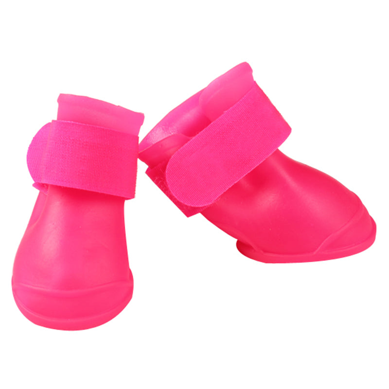 4 Pcs/lot New Fashion Pet Dog Soft Rubber Boots High Quality Silicone  Material Dog Shoes Non-slip Waterproof Pet Snow Boots