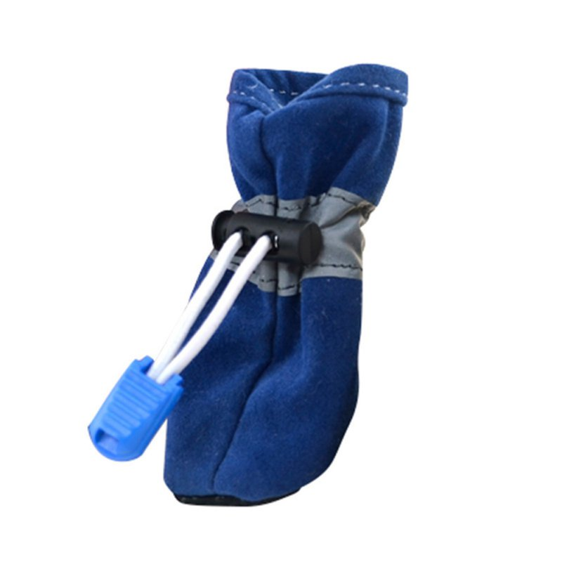 4 Pcs/set Pet Dog Waterproof Shoes Winter Warm Soft Thick Breathable Dogs Boot Shoes For Chihuahua Puppies XS-3XL New 7 Color