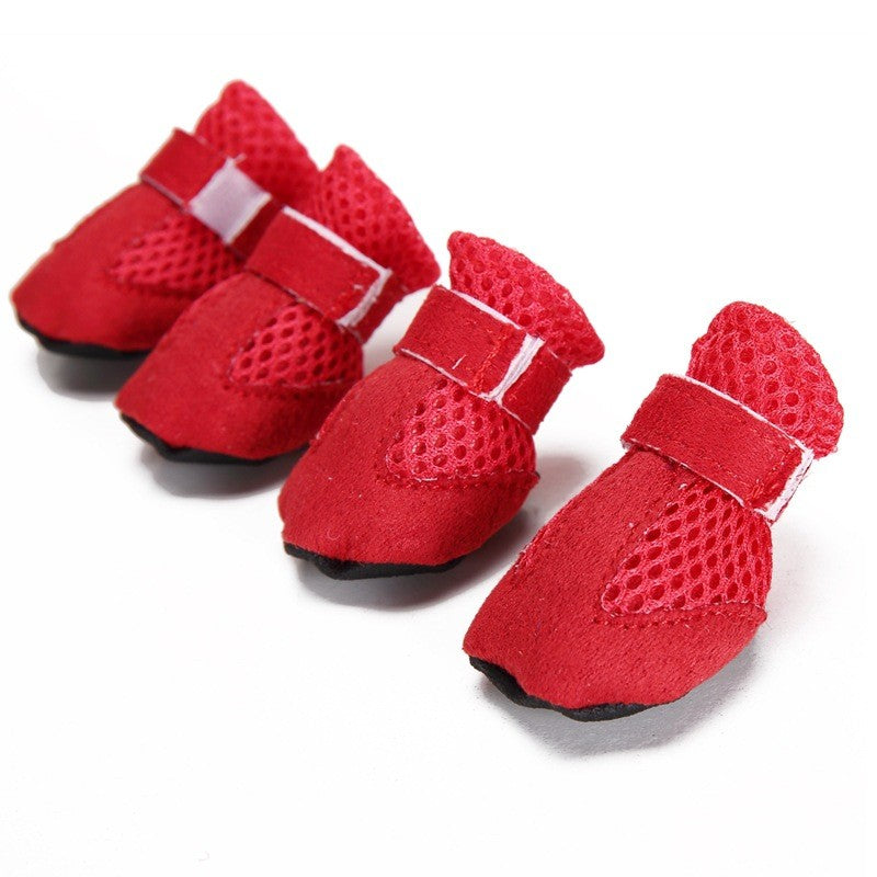 4 pieces/set New Arrivals Pet Dog Shoes Summer Breathable Casual Shoes Dog Shoes for Chihuahua Yorkshire Dog Boots 4 color SG177