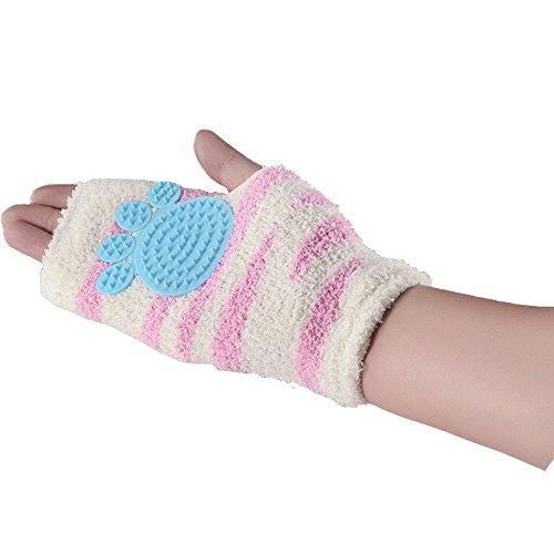 [New Design] Cotton Cat Grooming Glove - Real Massage Tool - Extra Flexible & Soft Than Regular Grooming Mitt - Perfect for Sensitive & Young Pets - Blue