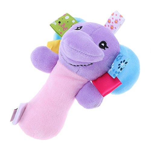 Sunsoar Pet Cartoon Animal Squeaky Plush Chew Toy for Puppy Kitten Small/Medium/Large