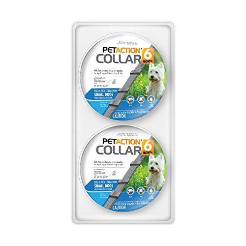 --PetAction Six Month Collar for Fleas and Ticks, Small Dogs, 2 Pack--