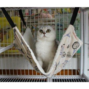 Sympathiser - Cat - Pet Cat Rat Rabbit Ferret Chinchilla Comforter Hanging Hammock Bed Cover Bag Sympathizer Nigripes Chinchilla Cat Cony - 1PCs