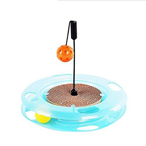 Zero Cat Scratching Pads Cat Scratcher Cardboard Toy With Inside Bell-Balls Fun Ball Toy To Keep Cats And Kittens Amused MT-308