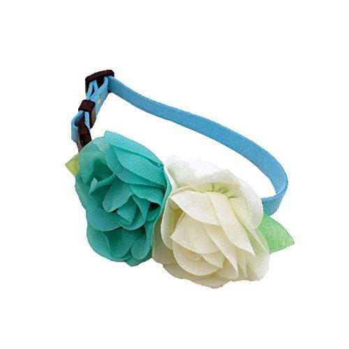 ZORTEA Pet Wedding Flower Collar Bell Bowknot Tie Cat Dog RabbitIdeal for Small Puppy Dog Cat