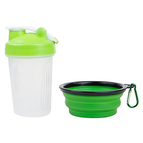 KAYI Pet Portable Waterer Bottle & Food Bowl Feeder Outdoot Traveling Carriers