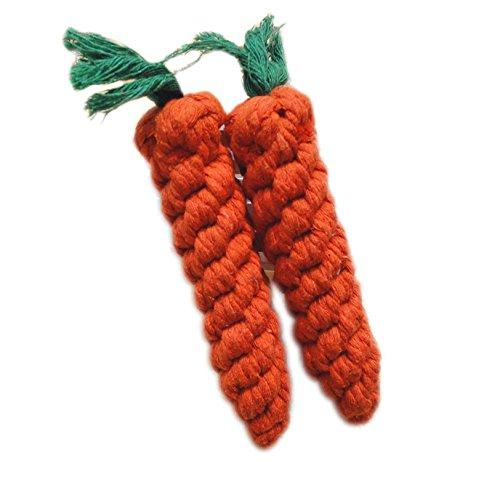 Zrong Pet Weave Carrot Rope Toy Tooth Cleaning Cotton Rope Dog Plaything