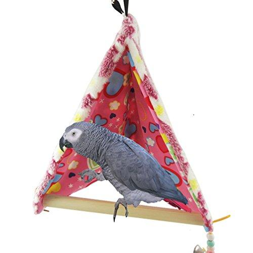Winter Warm Bird House Bed Perch for Parrot Macaw African Grey Amazon Parakeet Cockatiels Cockatoo Conure Lovebird Cage Swing Toy