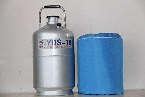 10L Liquid Nitrogen Tank Cryogenic LN2 Dewar Container+3 Pails+Protective Case,,KeeboVet Veterinary Ultrasound Equipment,KeeboVet Veterinary Ultrasound Equipment.