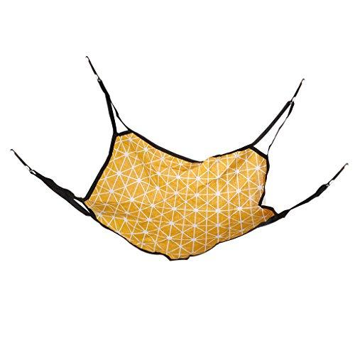 YDZN Pet Rat Rabbit Ferret Chinchilla Cat Hammock Hanging Bed Cover Bag Blankets (Yellow Lattice)
