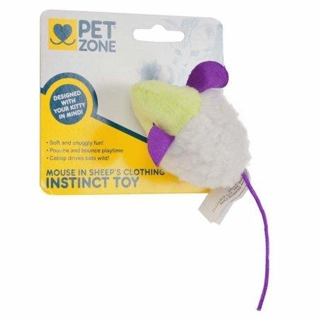 Pet Zone 1550012662 Mouse In Sheep's Clothing Instinct Cat Toy