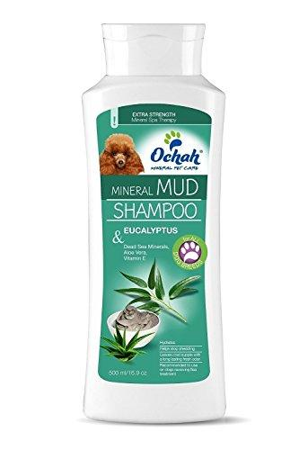 Ochah All-Natural Mineral Mud Shampoos for Sensitive Skin- Made with Healing Vitamins found in Dead Sea Mineral Mud- Promotes a Healthy, Clean, and Soft Coat for your Pet- 16.9oz