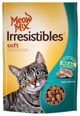 Meow Mix Irresistibles Soft Cat Treats with Real Salmon, 6.5 oz.