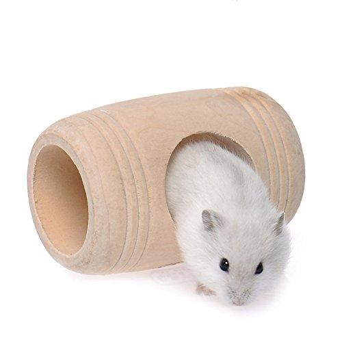 Tutuba Wooden Furniture Bed House Cage Wine Cask for Rat Hamster Mouse Mice Rat Pet Toy